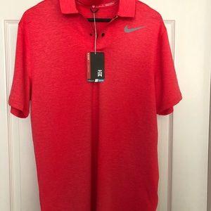 a7b65e95 Nike Shirts | Mens Tw Blur Stripe Golf Polo Siren Red | Poshmark